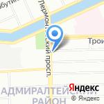 Море Обуви на карте Санкт-Петербурга