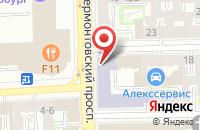 Схема проезда до компании Юникс в Санкт-Петербурге