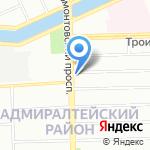 Санкт-Петербургский университет технологий управления и экономики на карте Санкт-Петербурга