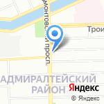 Колледж на карте Санкт-Петербурга