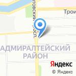 Васаби на карте Санкт-Петербурга