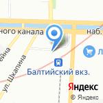 Трактирный промысел на карте Санкт-Петербурга