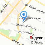 Style на карте Санкт-Петербурга