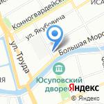 Абажур на карте Санкт-Петербурга