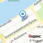 Шафран на карте Санкт-Петербурга