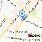 КройБург на карте Санкт-Петербурга