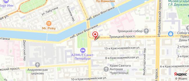 Карта расположения пункта доставки Санкт-Петербург Троицкий в городе Санкт-Петербург