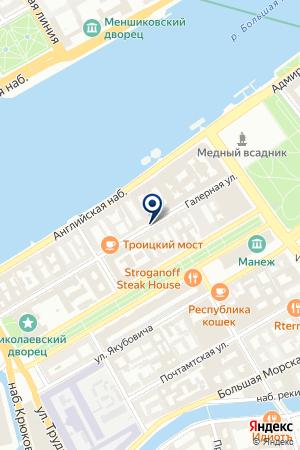 САЛОНЫ ИТАЛЬЯНСКОЙ ПЛИТКИ СКВИРЕЛ на карте Санкт-Петербурга