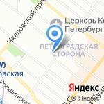 Цветочный магазин на карте Санкт-Петербурга
