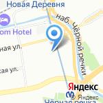 Яблонька на карте Санкт-Петербурга
