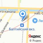 СПб-Балтийский Линейный Отдел МВД России на транспорте на карте Санкт-Петербурга