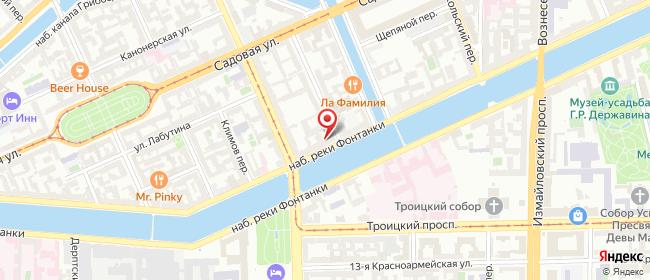 Карта расположения пункта доставки На Фонтанке в городе Санкт-Петербург