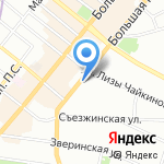 Магазин женского трикотажа и обуви на карте Санкт-Петербурга