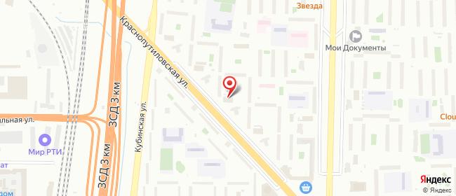 Карта расположения пункта доставки Санкт-Петербург Краснопутиловская в городе Санкт-Петербург