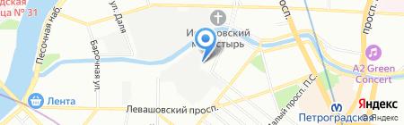Спутник-Секьюрити на карте Санкт-Петербурга