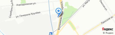 Питер-Аренда на карте Санкт-Петербурга