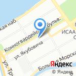 Шанхай на карте Санкт-Петербурга