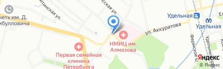 Еврострах на карте Санкт-Петербурга