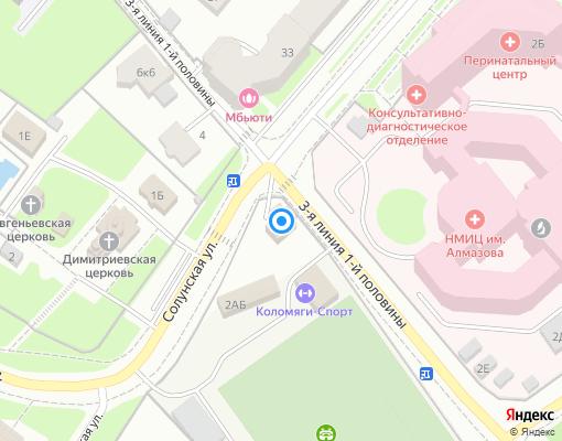 Управляющая компания «Обслуживание кондоминиумов» на карте Санкт-Петербурга