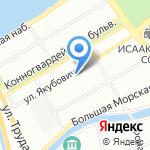 1 отдел полиции Управления МВД Адмиралтейского района на карте Санкт-Петербурга