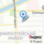Кабриолет на карте Санкт-Петербурга