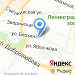 Глиссада на карте Санкт-Петербурга