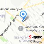 Стоматологическая поликлиника №6 на карте Санкт-Петербурга