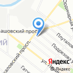 Дизайн Кобзарини на карте Санкт-Петербурга