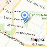 Вторая навигация на карте Санкт-Петербурга