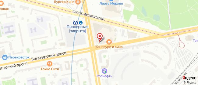 Карта расположения пункта доставки Санкт-Петербург Коломяжский в городе Санкт-Петербург