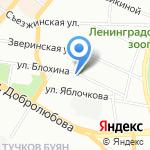 Белорусский ласунак на карте Санкт-Петербурга