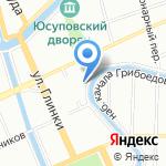 Манеж на карте Санкт-Петербурга