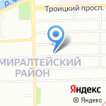 Акрос на карте Санкт-Петербурга