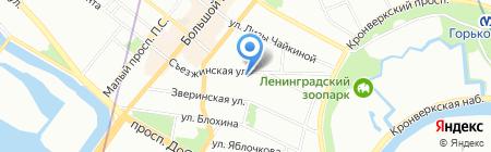 Рафстрой на карте Санкт-Петербурга