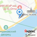 Санкт-Петербургский государственный университет на карте Санкт-Петербурга