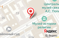 Схема проезда до компании Кентавр в Санкт-Петербурге