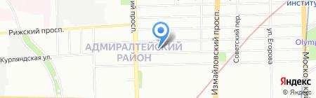 Ксанф на карте Санкт-Петербурга