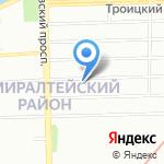 Аэлита на карте Санкт-Петербурга