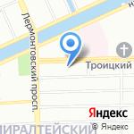 МКС на карте Санкт-Петербурга