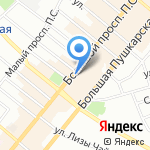 Большой Проспект на карте Санкт-Петербурга