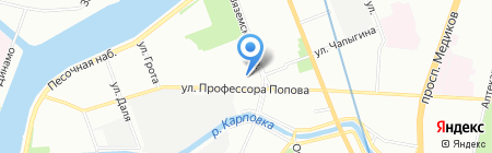 Дисплей Балтика на карте Санкт-Петербурга