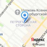Сахарная Фабрика на карте Санкт-Петербурга
