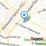 Скандика на карте Санкт-Петербурга