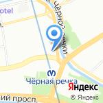 Микс на карте Санкт-Петербурга