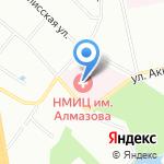 Северо-Западный медицинский исследовательский центр Минздрава России на карте Санкт-Петербурга