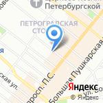 Выпь на карте Санкт-Петербурга