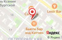 Схема проезда до компании Преображение в Санкт-Петербурге