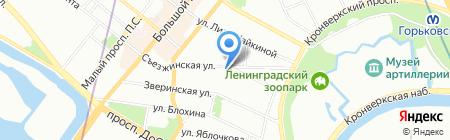 Физиотехника на карте Санкт-Петербурга