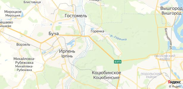 Гостомель на карте