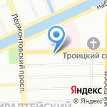 Студ-плюс на карте Санкт-Петербурга